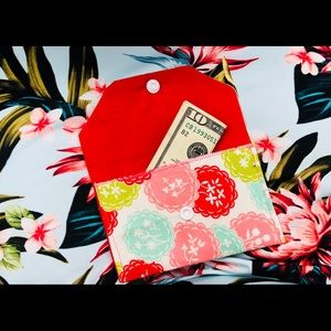 Accessories - Hand Made Wallet/ Pouch with snap closure